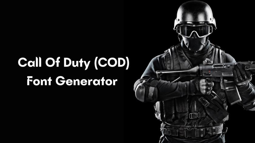 Call Of Duty (COD) Font Generator