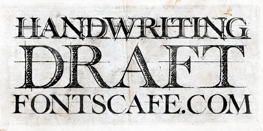3 Font Collection Of Warm Hand Inked Drafting Style Typefaces