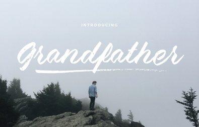 grandfather-brush-script