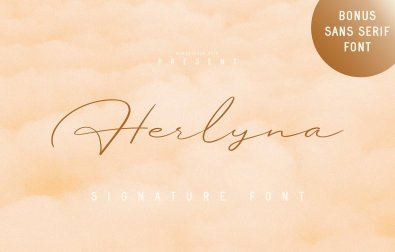 herlyna-signature-font
