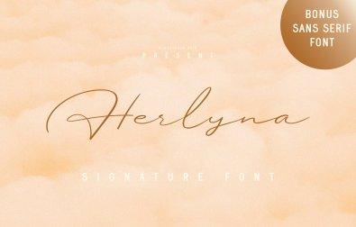 herlyna-signature-font