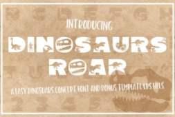 dinosaurus-roar-font