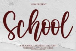 school-font
