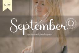 september-font