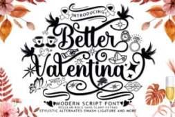 better-valentina-duo-font