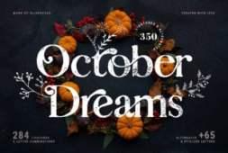 october-dreams-font
