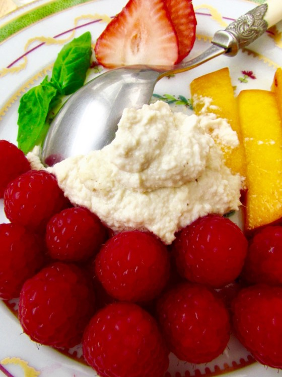 Fresh Fruit and Cashew Cream