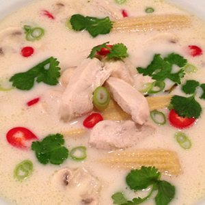 Thai chicken soup or Tom Kha Gai