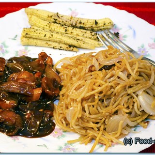 Kung Pao Chicken with Burned Garlic Noodles