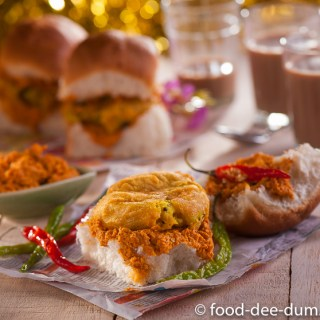 Home-made Vada Pav (Pao)