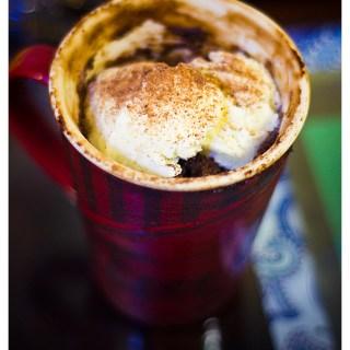 Coffee-Mug Cake & a Happy 2nd Wedding Anniversary!