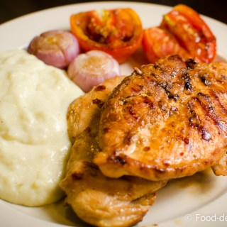 Soy-Ginger Grilled Chicken with Wasabi Mashed Potatoes