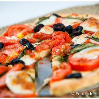 Tomato Basil and Mozzarella Pizza