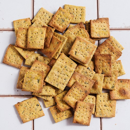 Kürbis-Curry-Cracker