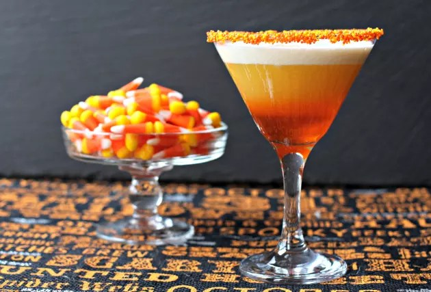 candy corn martini — candy-inspired cocktails