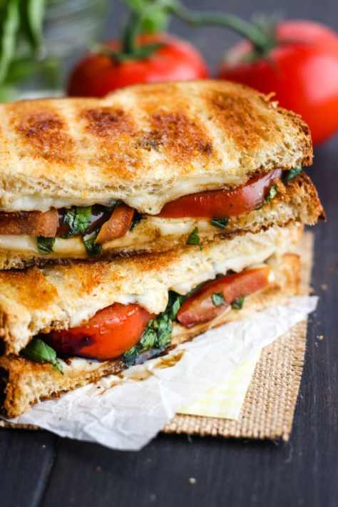 Toasted Caprese Sandwich Picture