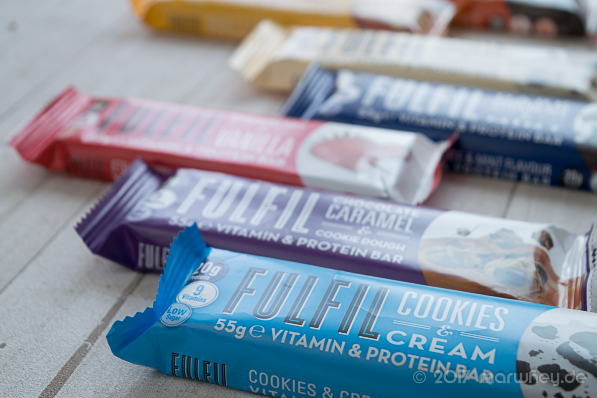 Review: Vitamin & Protein Bars von Fulfil Nutrition