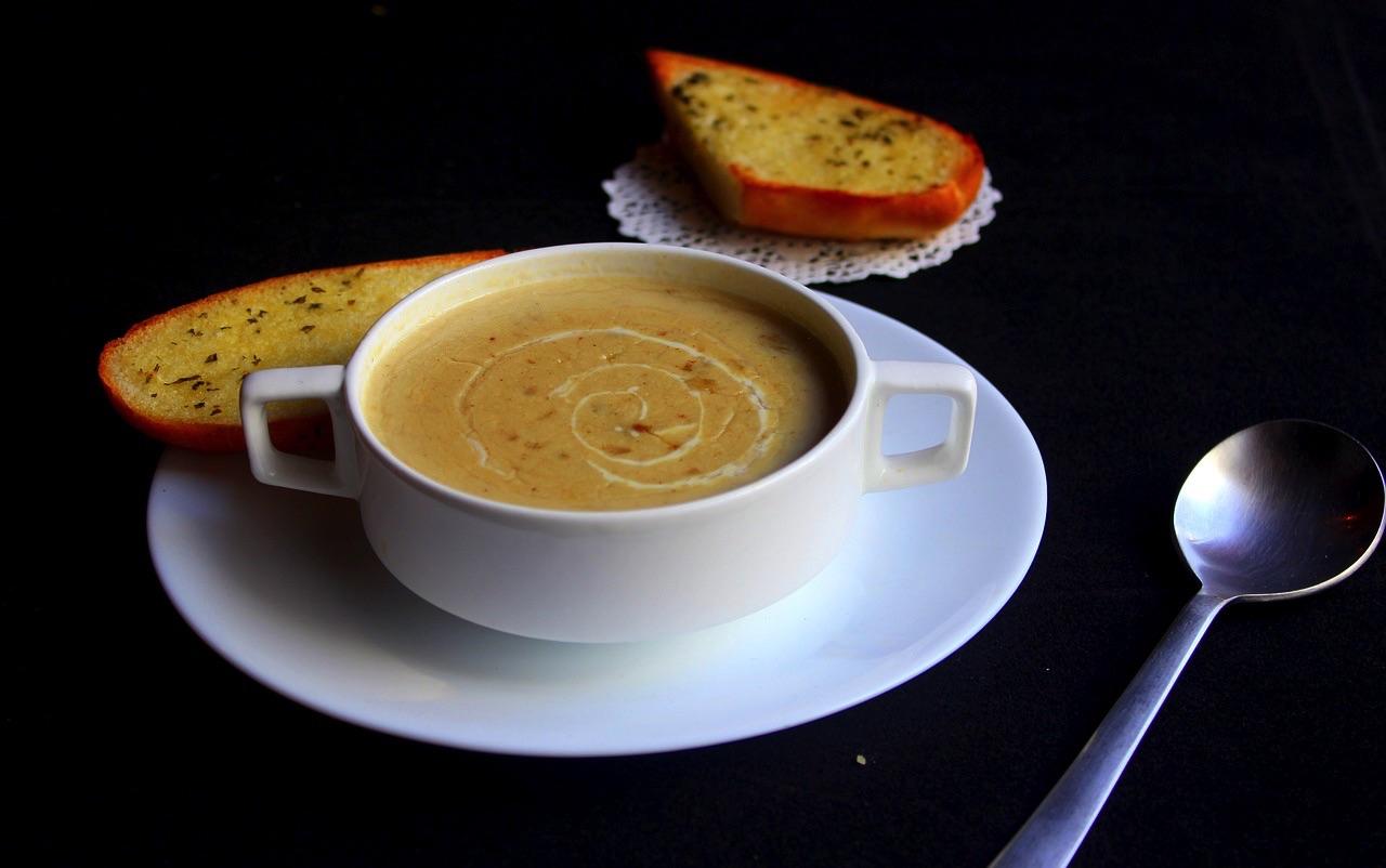 Нежный грибной крем-суп с картофелем