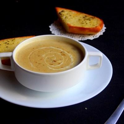 Грибной крем-суп с картофелем