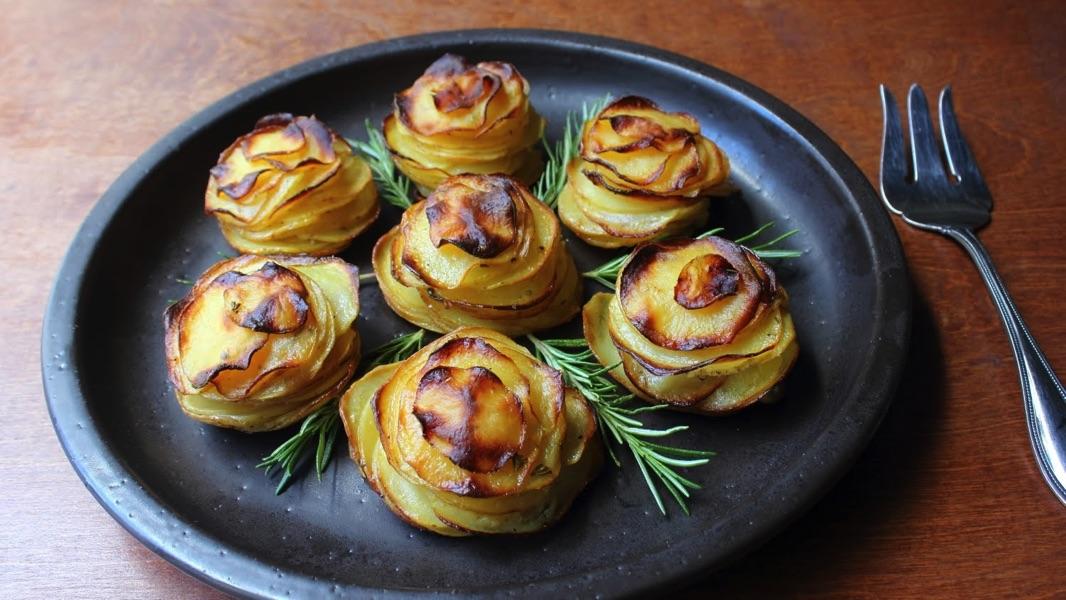 Изысканный картофель в виде десерта