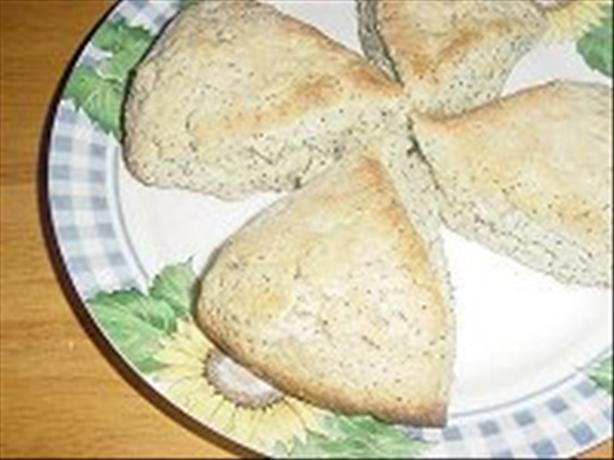 Lemon Poppy Seed Scones. Photo by Karen=^..^=