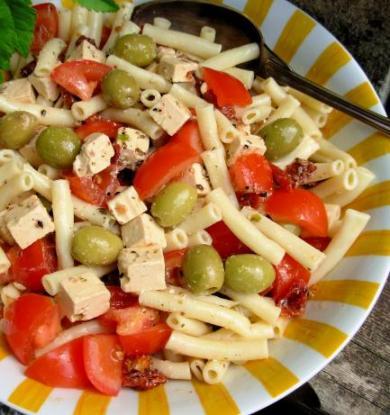 Mediterranean-Style Pasta Salad.
