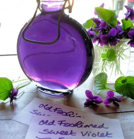 Old Fashioned Sweet Violet Syrup (naturally colored!) from French Tart on food.com