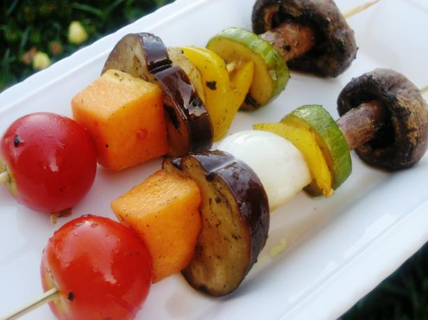 Grilled Veggie Shish Kabobs. Photo by Pneuma