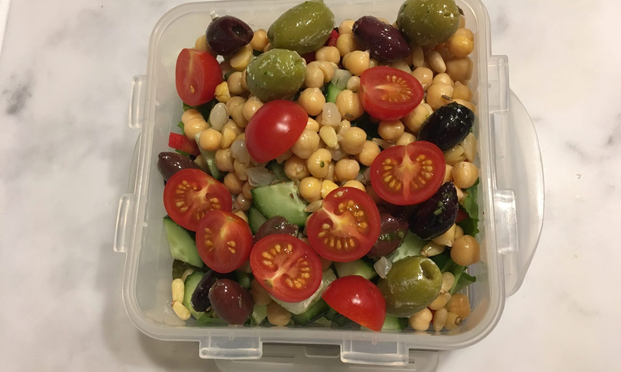 Chickpea salad lunch box