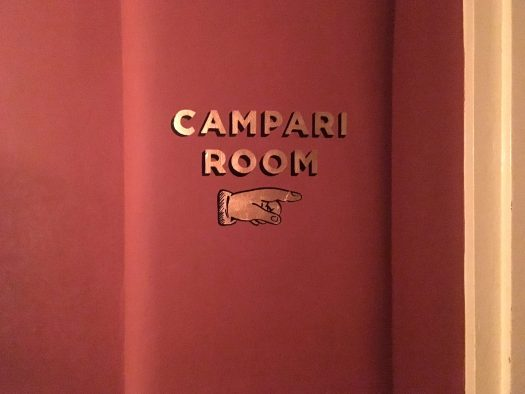 Sign for Campari Room