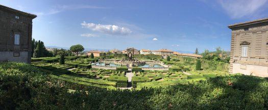 Panorama of Villa Lante gardens