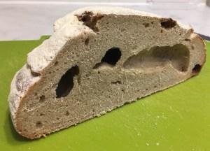 Cavernous bread full of holes