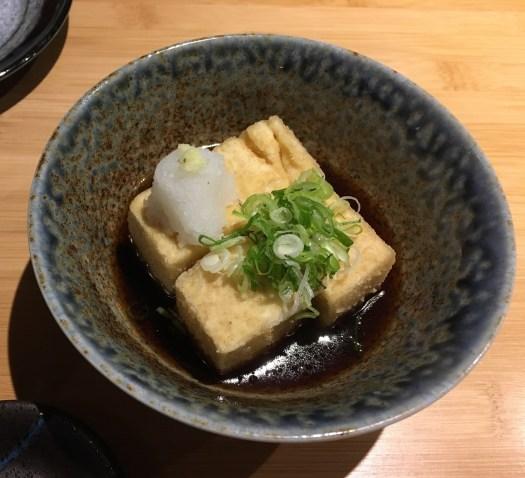 Agedashi tofu at Kazu