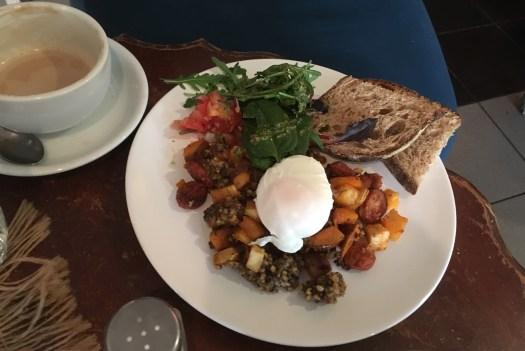 Haggis and chorizo at Muxima cafe