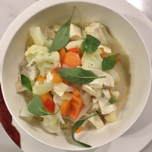 Thai Green curry - with cauliflower
