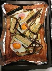Egg and spring veg tart