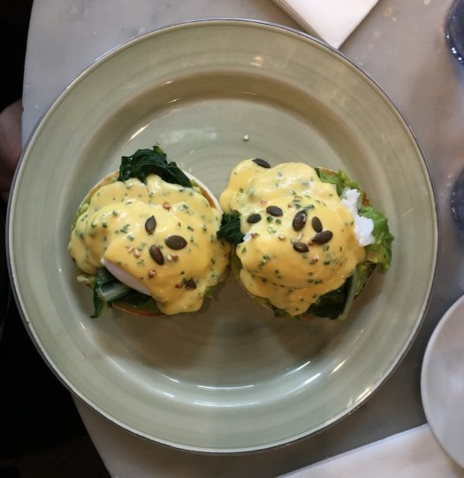 Eggs Benedict at Riding House Cafe