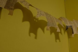 Bat streamer made out of newspaper