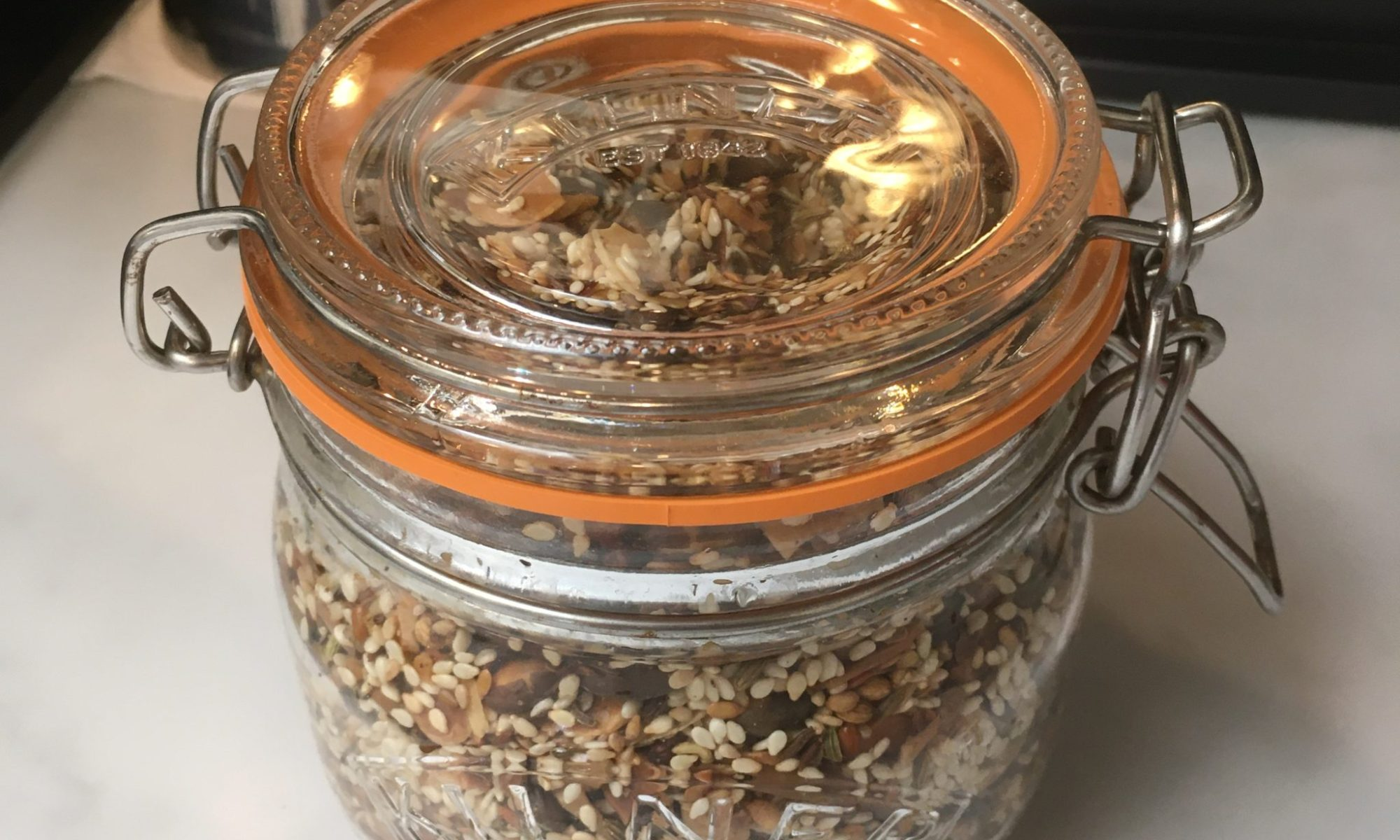 A jar of home made dukkah
