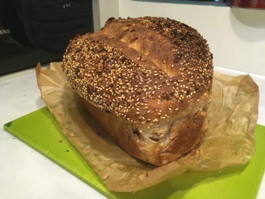 Dukkah on bread