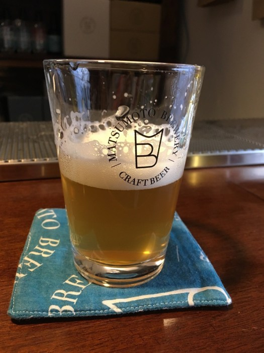 A pint from Matsumoto Brewery