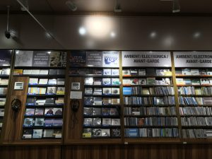 Electronica/Avantgarde CD shelves at Tower records