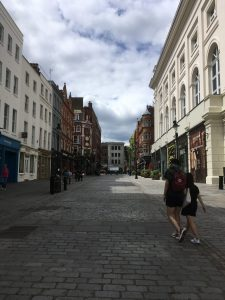 An empty Covent Garden
