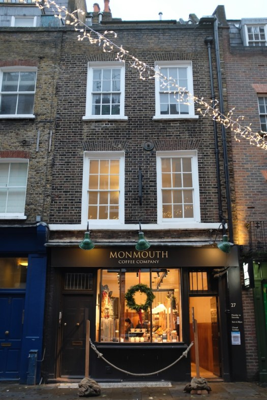 Festive looking Monmouth coffee company