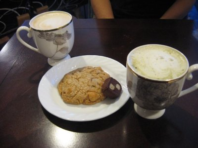 Coffees and cookies at the Bakery & Cafe