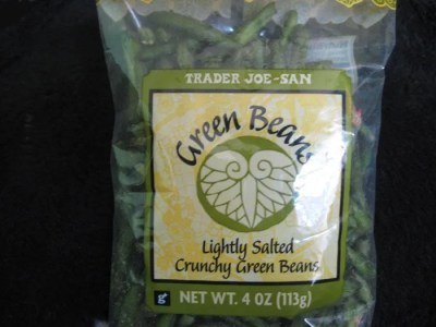 Crunchy green beans snack