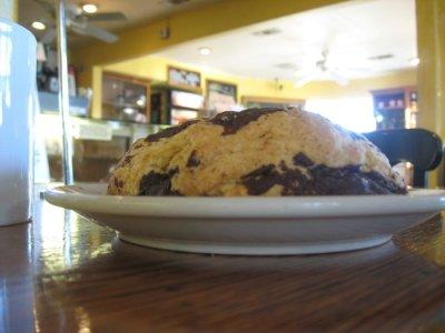 Living Room Cafe - San Diego - Chocolate Scone