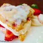 [recipe] strawberry shortcake scones with coconut cream glaze