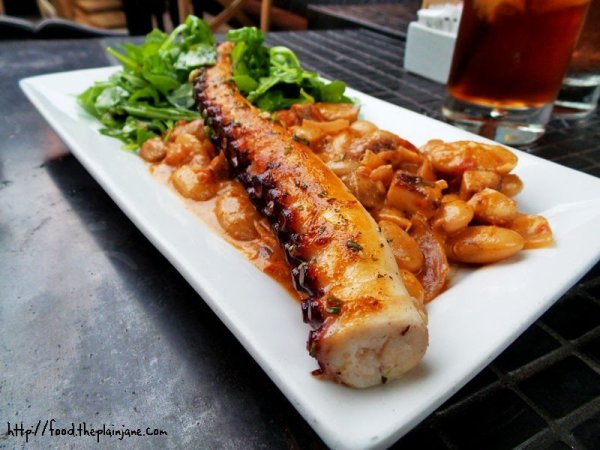 Braised Spanish Octopus at The Patio on Lamont Street