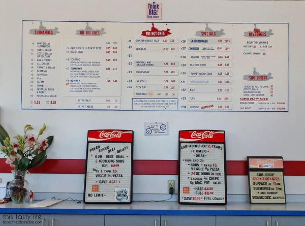 Menu | College Sub Shop - San Diego, CA